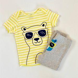 Infant 2 Piece Bear Little Character Set